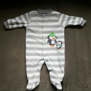 Carter's Grey 3months baby boy Penguin Pajama